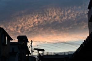 Nikon Digital Camera 秋の朝焼け=あきのあさやけ